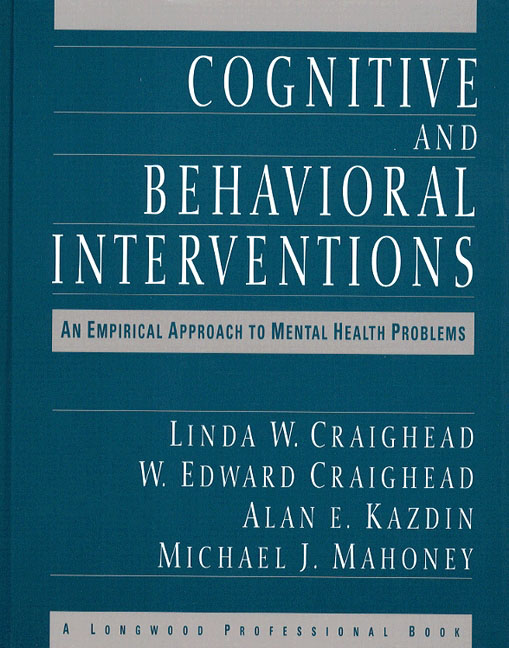 cognitive behavioral intervention approach essay In an essay of 1,250-1,500 words, discuss the models, procedures, effectiveness, and limitations of the cognitive behavioral approach with ebd children 2) include the procedures used in the approach.